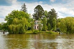 Piękny widok na jeziorze w Sofiyivsky parku w Uman, Ukraina Obrazy Royalty Free
