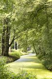 Piękny widok na kraju siedzeniu Elswout blisko Overveen i Bloemendaal w holandiach, Elswout jest dziejowym i scenicznym estat Obrazy Stock