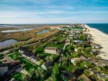 Piękny widok na linii brzegowej zatoka w Odessa regionie Zdjęcie Stock