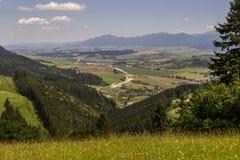 Piękny widok na Liptov wsi, Sistani Obraz Stock