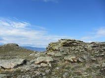 Piękny widok na Olkhon wyspie Fotografia Royalty Free