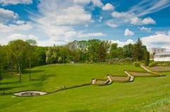 Piękny widok na tarasach w Sofiyivsky parku w Uman, Ukraina Obrazy Royalty Free