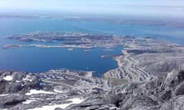Piękny widok Od Halnego Greenland Nuuk Woaw Obrazy Royalty Free