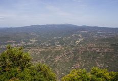 Piękny widok od Montserrat gór Hiszpania Zdjęcie Stock