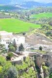 piękny widok Ronda, Hiszpania Fotografia Royalty Free