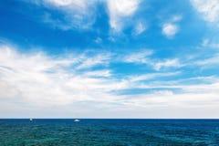 Piękny widok seacoast Zdjęcia Royalty Free