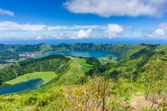 Piękny widok Siedem miast Jeziornych Zdjęcie Royalty Free
