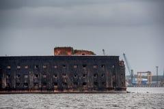 Piękny widok stary port morski Zdjęcie Stock