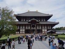 Pi?kny widok Todai-ji ?wi?tynia w Nara Wielki Buddha Hall fotografia stock