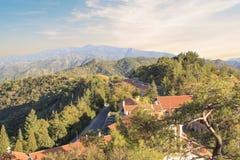 Piękny widok Trooditissa monaster w Cedrowym Dolinnym rezerwacie przyrody w Cypr Fotografia Royalty Free