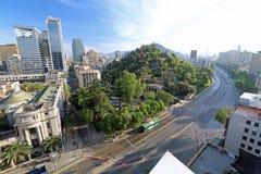 Piękny widok W centrum Santiago, Chile zdjęcie stock