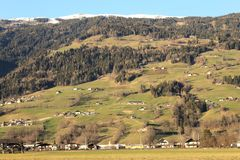 Pi?kny widok wzg?rza w Austria fotografia royalty free