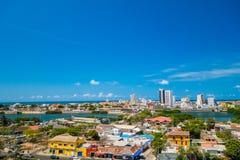 Piękny widok z lotu ptaka Cartagena, Kolumbia Zdjęcia Stock