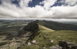 Piękny widok z wierzchu góry Brandon, Irlandia Fotografia Stock