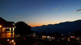 Piękny wieczór w Shogran Zdjęcia Stock