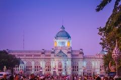 Piękny wieczór widok Ananta Samakhom Tronowy Hall forme Obraz Stock