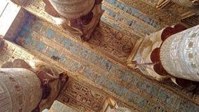 Pi?kny wn?trze ?wi?tynia Dendera lub ?wi?tynia Hathor Egipt, Dendera, blisko miasta Ken zbiory