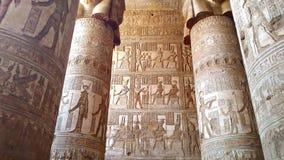 Pi?kny wn?trze ?wi?tynia Dendera lub ?wi?tynia Hathor Egipt, Dendera, blisko miasta Ken zbiory wideo