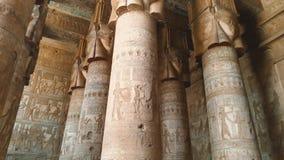 Pi?kny wn?trze ?wi?tynia Dendera lub ?wi?tynia Hathor Egipt, zbiory