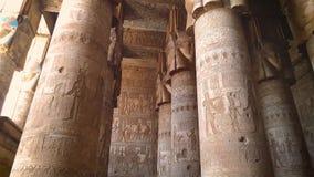Pi?kny wn?trze ?wi?tynia Dendera lub ?wi?tynia Hathor Egipt, zdjęcie wideo