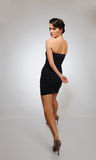 piękny wybiegu mody modela odprowadzenie Obrazy Royalty Free