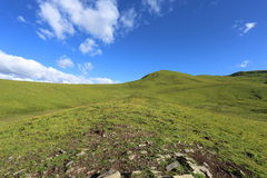 Piękny wysoka góra obszar trawiasty w Chiny Obraz Royalty Free