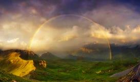 Piękny wysokogórski krajobraz Obrazy Royalty Free