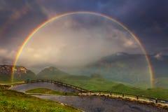 Piękny wysokogórski krajobraz Obraz Royalty Free