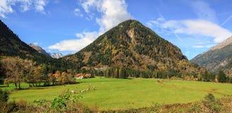 Piękny wysokogórski krajobraz blisko wioski Koschach, Austria Zdjęcie Royalty Free