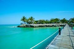 Piękny wyspa kurortu jetty Zanzibar Fotografia Stock