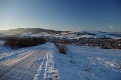 Piękny zima kraj Zdjęcia Royalty Free