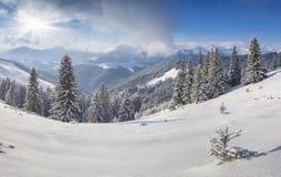 Piękny zima krajobraz w górach Obraz Stock