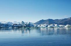 Piękny zimno krajobrazu obrazek icelandic lodowiec laguny zatoka, Zdjęcia Royalty Free