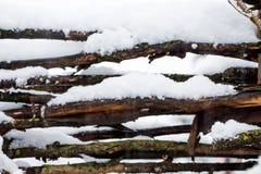 Piękny zimy landscape fotografia stock
