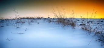 Piękny zimy landscape Zdjęcie Stock