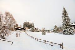Piękny zimy landscape alps dolomit Italy obraz royalty free