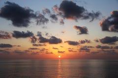 Piękny zmierzch - muszkat, Oman Zdjęcie Royalty Free