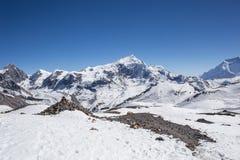 Piękny zmierzch nad górami zdjęcie royalty free