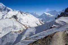 Piękny zmierzch nad górami fotografia royalty free
