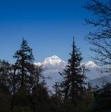 Piękny zmierzch nad górami obrazy royalty free