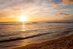 Piękny zmierzch Pacyfik zdjęcie royalty free