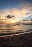 Piękny zmierzch Pacyfik fotografia royalty free