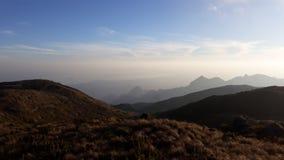 Piękny zmierzch przy à Parque Nacional Serra dos 'rgãos Zdjęcia Royalty Free