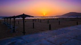 Piękny zmierzch w Agadir, Maroko Fotografia Stock