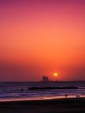 Piękny zmierzch w Agadir, Maroko Obrazy Stock