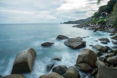 piękny zmierzch w Phuket Thailand Zdjęcia Stock