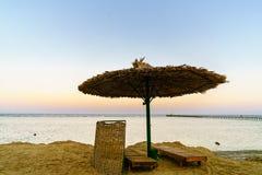 Piękny zmierzch w sharm el sheikh Egypt Zdjęcia Stock