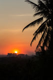 Piękny zmierzch w Yangon Fotografia Stock