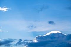 Piękny zmierzch za chmurami Zdjęcie Stock