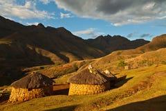 pięknych domów lekkie góry Fotografia Stock